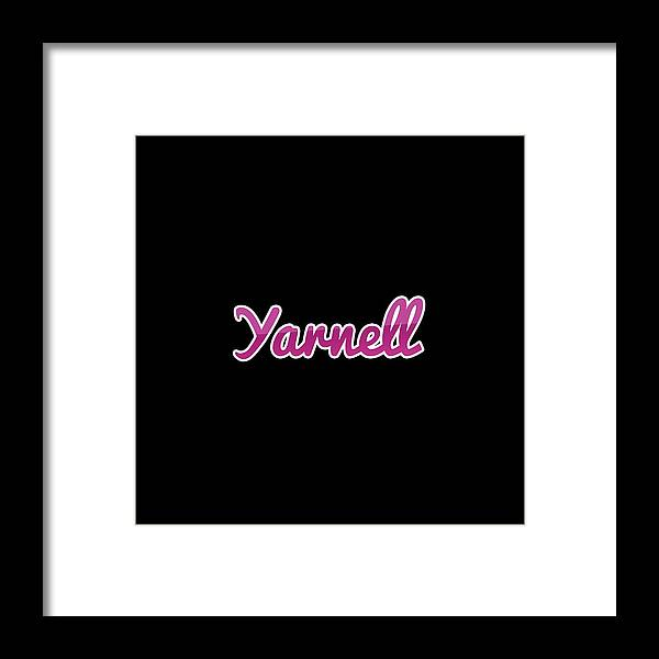 Yarnell Framed Print featuring the digital art Yarnell #yarnell by Tinto Designs