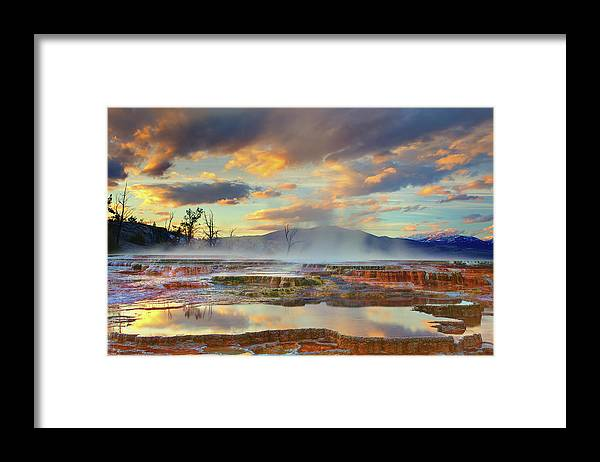 Scenics Framed Print featuring the photograph Yellowstone National Park-mammoth Hot by Kevin Mcneal