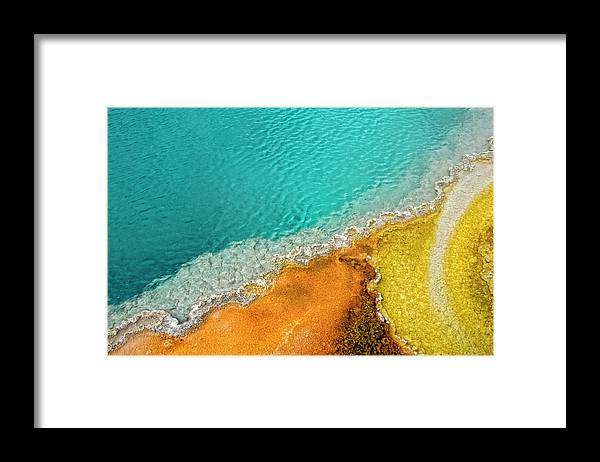 Geology Framed Print featuring the photograph Yellowstone West Thumb Thermal Pool by Bill Wight Ca