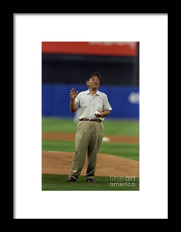 People Framed Print featuring the photograph Yogi Berra by Al Bello