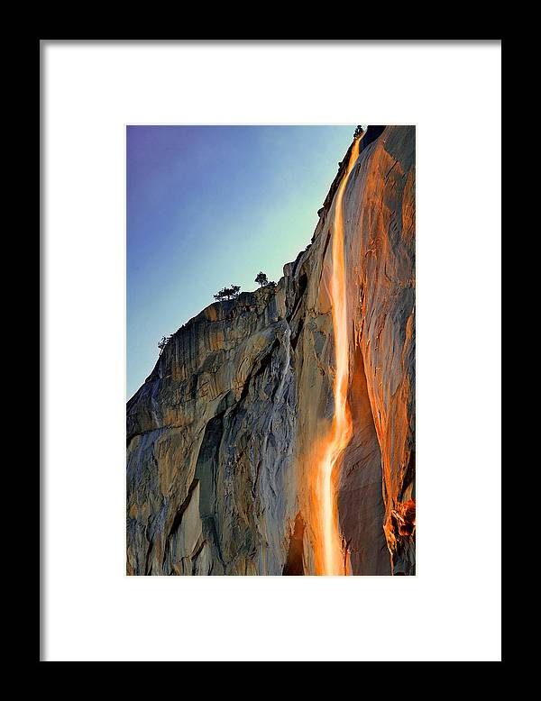 Tranquility Framed Print featuring the photograph Yosemite Firefall by Provided By Jp2pix.com