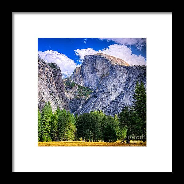 Capitan Framed Print featuring the photograph Yosemite National Park California by Dancestrokes