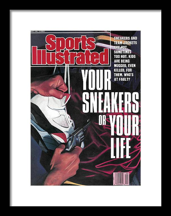 Magazine Cover Framed Print featuring the photograph Your Sneakers Or Your Life Sneakers And Team Jackets Are Sports Illustrated Cover by Sports Illustrated