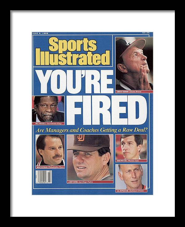 1980-1989 Framed Print featuring the photograph Youre Fired Are Managers And Coaches Getting A Raw Deal Sports Illustrated Cover by Sports Illustrated