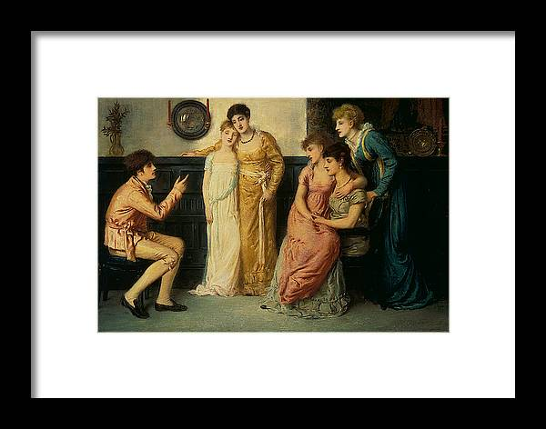Simeon Solomon Framed Print featuring the painting Youth Relating Tales by MotionAge Designs