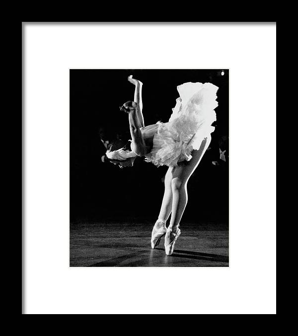 Yvette Chauviré Framed Print featuring the photograph Yvette Chauvire by Erich Auerbach