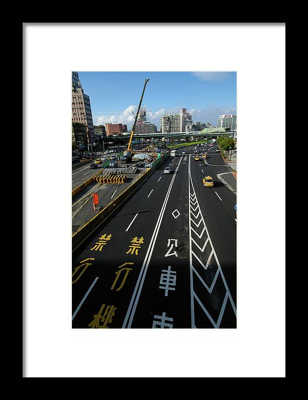 Shadow Framed Print featuring the photograph Zhonghua Rd by Copyright Of Eason Lin Ladaga
