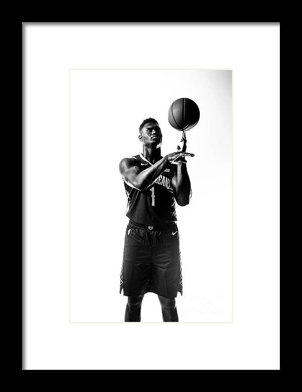 Nba Pro Basketball Framed Print featuring the photograph Zion Williamson by Sean Berry