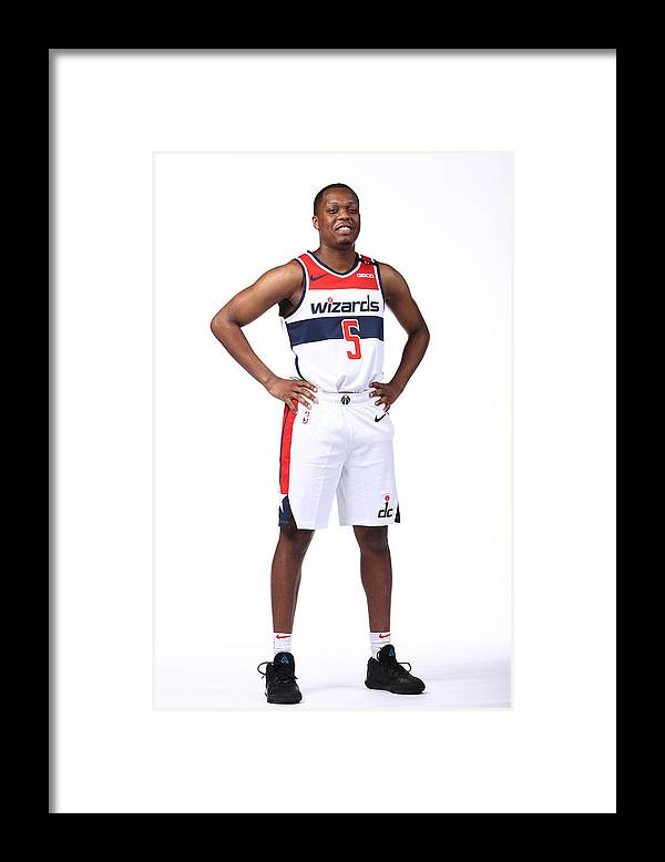 Media Day Framed Print featuring the photograph 2020-21 Washington Wizards Content Day by Ned Dishman