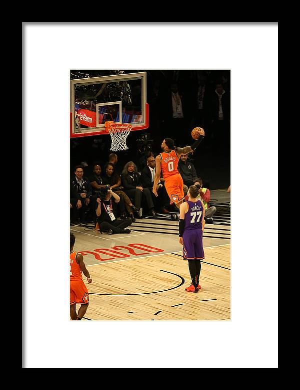 Nba Pro Basketball Framed Print featuring the photograph 2020 NBA All-Star - Rising Stars Game by David Sherman