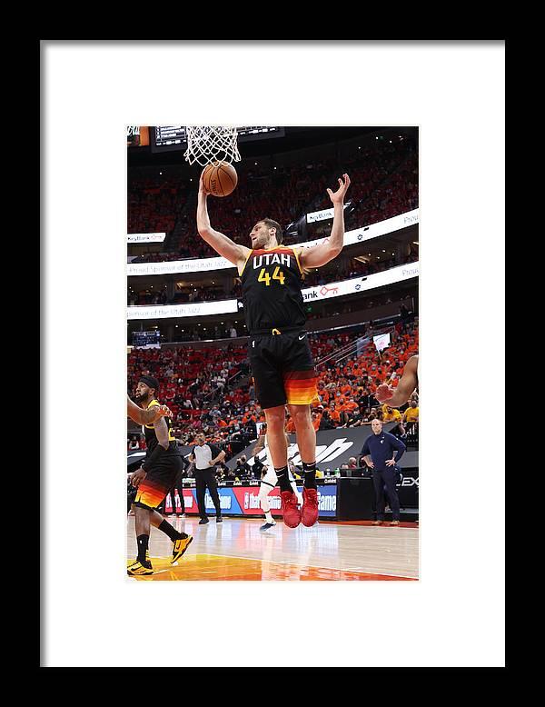 Playoffs Framed Print featuring the photograph 2021 NBA Playoffs - Memphis Grizzlies v Utah Jazz by Joe Murphy
