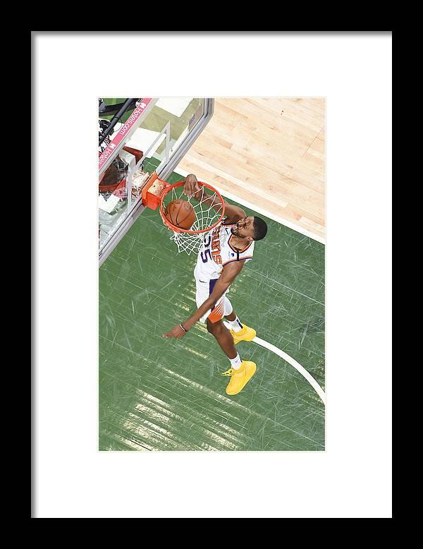 Playoffs Framed Print featuring the photograph 2021 NBA Playoffs - Phoenix Suns v Milwaukee Bucks by Andrew D. Bernstein
