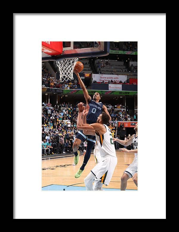 Playoffs Framed Print featuring the photograph 2021 NBA Playoffs - Utah Jazz v Memphis Grizzlies by Joe Murphy