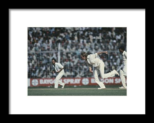 1979 Framed Print featuring the photograph 6th Test In Mumbai by Adrian Murrell