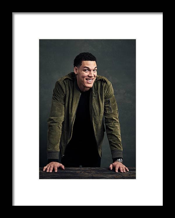 Event Framed Print featuring the photograph Aaron Gordon by Jennifer Pottheiser