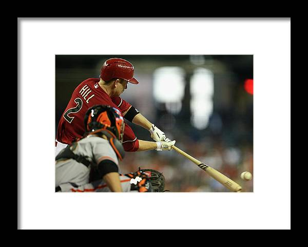 National League Baseball Framed Print featuring the photograph Aaron Hill by Christian Petersen
