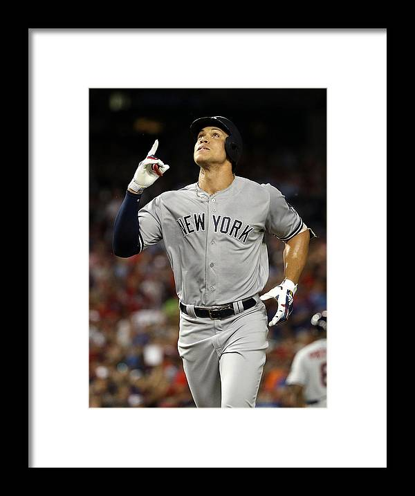Second Inning Framed Print featuring the photograph Aaron Judge by Patrick Smith