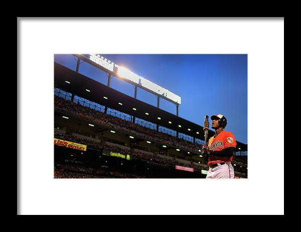 Three Quarter Length Framed Print featuring the photograph Adam Jones by Rob Carr