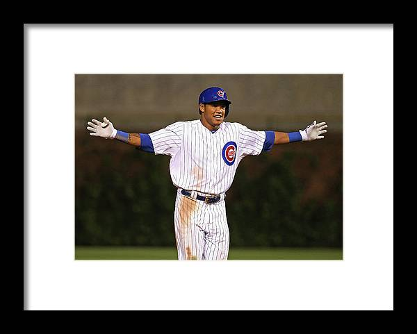 Three Quarter Length Framed Print featuring the photograph Addison Russell by Jonathan Daniel