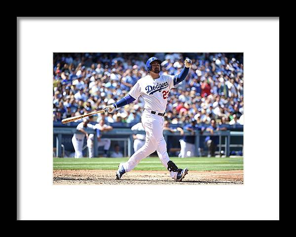 People Framed Print featuring the photograph Adrian Gonzalez by Harry How