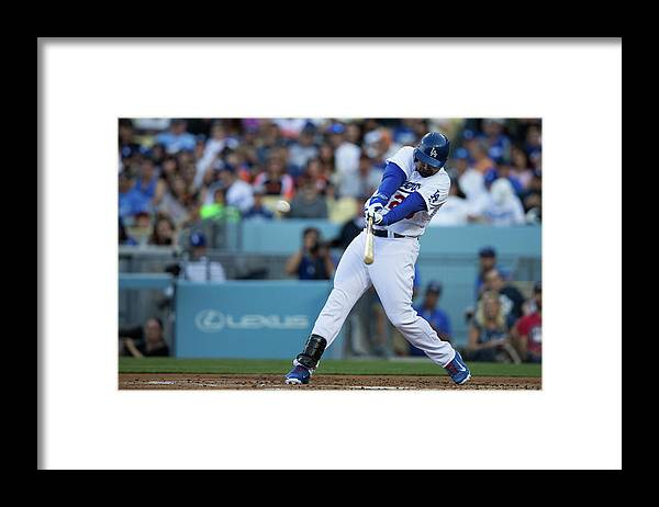California Framed Print featuring the photograph Adrian Gonzalez by Paul Spinelli