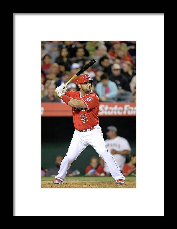 American League Baseball Framed Print featuring the photograph Albert Pujols by Harry How