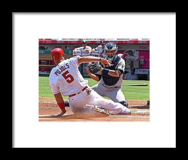 People Framed Print featuring the photograph Albert Pujols by Jayne Kamin-oncea