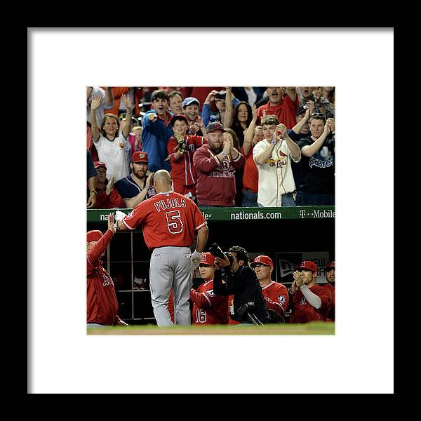 Crowd Framed Print featuring the photograph Albert Pujols by Patrick Smith