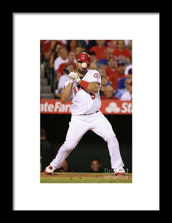 People Framed Print featuring the photograph Albert Pujols by Sean M. Haffey