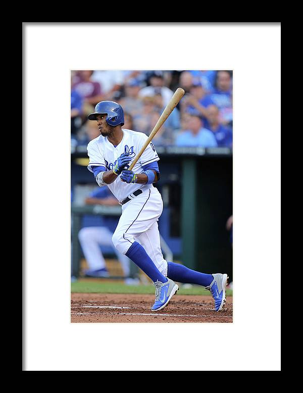 Second Inning Framed Print featuring the photograph Alcides Escobar by Ed Zurga
