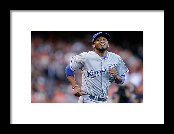 San Francisco Framed Print featuring the photograph Alcides Escobar by Ezra Shaw