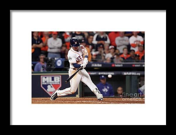 Alex Bregman Framed Print featuring the photograph Alex Bregman by Christian Petersen
