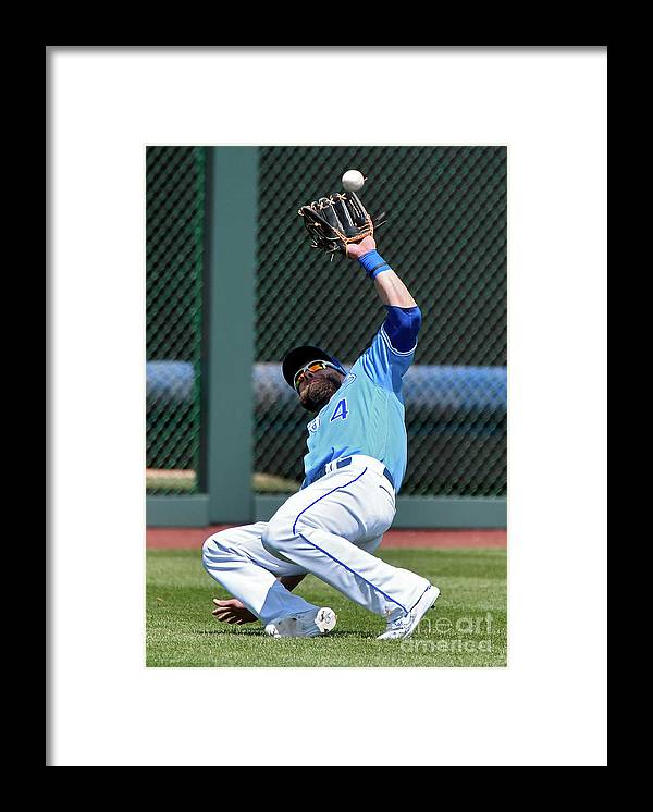 Second Inning Framed Print featuring the photograph Alex Gordon by Ed Zurga