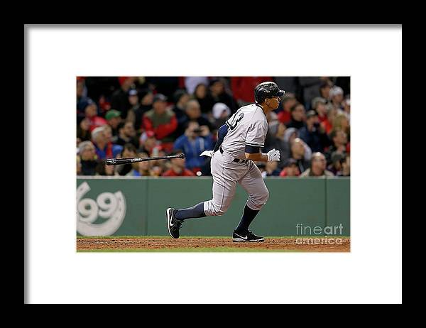 People Framed Print featuring the photograph Alex Rodriguez and Willie Mays by Jim Rogash