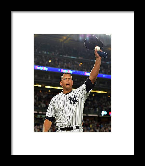 Crowd Framed Print featuring the photograph Alex Rodriguez by Drew Hallowell