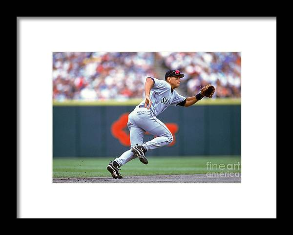People Framed Print featuring the photograph Alex Rodriguez by John Reid Iii