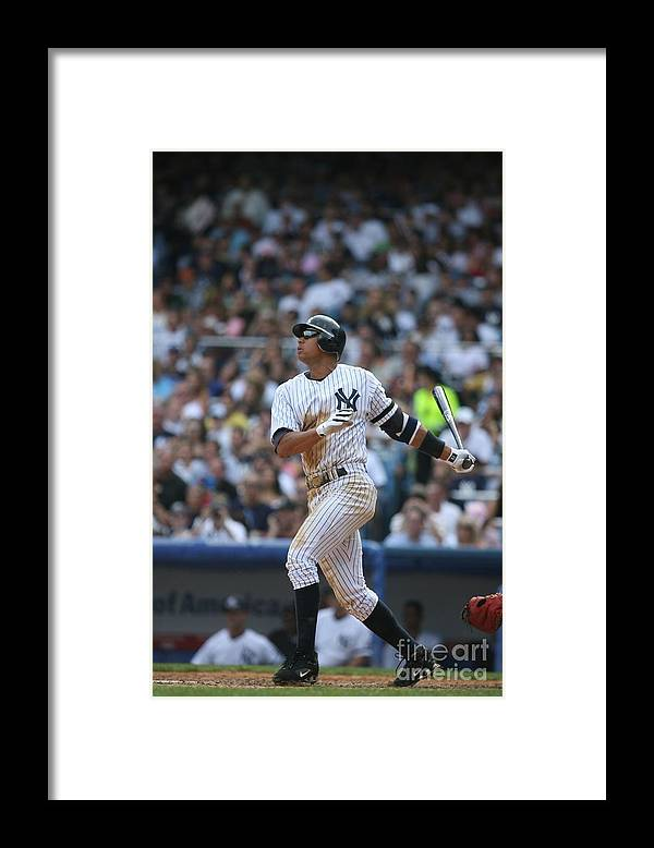 People Framed Print featuring the photograph Alex Rodriguez by Rich Pilling