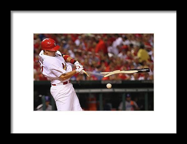 St. Louis Cardinals Framed Print featuring the photograph Allen Craig by Dilip Vishwanat
