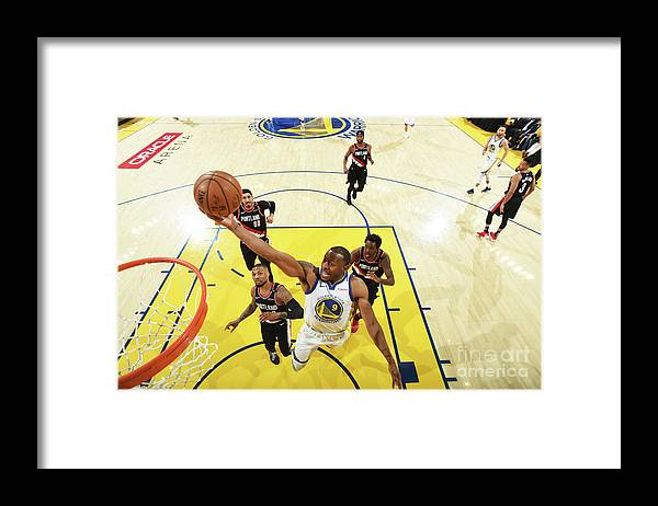 Playoffs Framed Print featuring the photograph Andre Iguodala by Andrew D. Bernstein