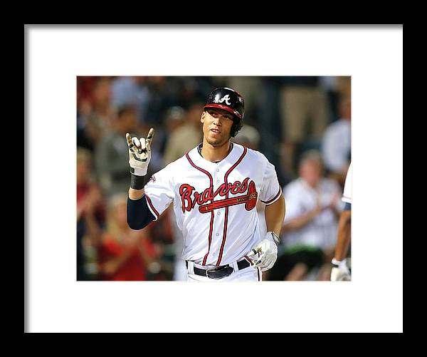 Atlanta Framed Print featuring the photograph Andrelton Simmons by Kevin C. Cox