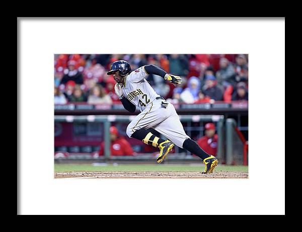 Great American Ball Park Framed Print featuring the photograph Andrew Mccutchen by Andy Lyons