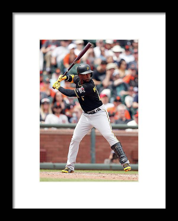 San Francisco Framed Print featuring the photograph Andrew Mccutchen by Ezra Shaw