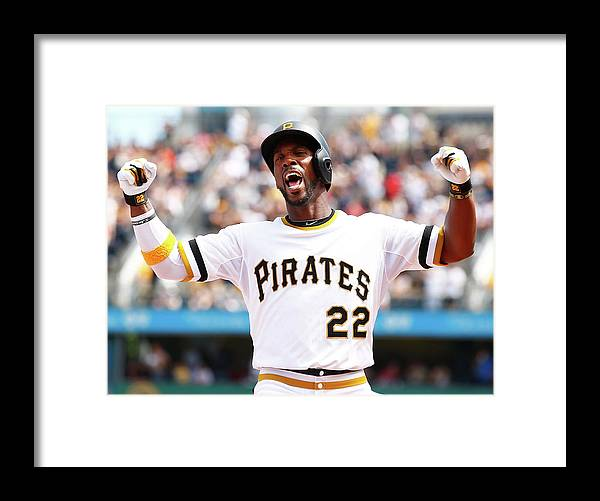 Following Framed Print featuring the photograph Andrew Mccutchen by Jared Wickerham