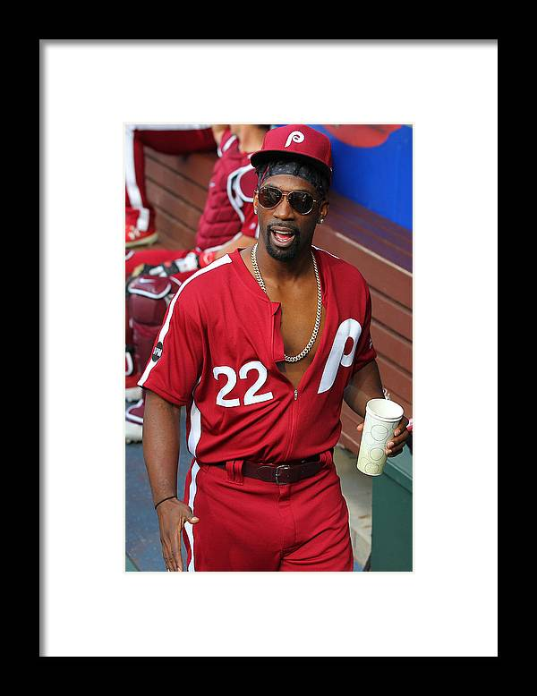 Three Quarter Length Framed Print featuring the photograph Andrew Mccutchen by Rich Schultz