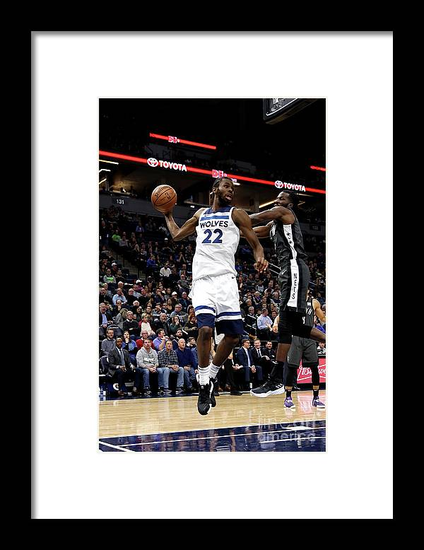 Nba Pro Basketball Framed Print featuring the photograph Andrew Wiggins by Jordan Johnson