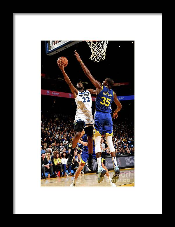 Nba Pro Basketball Framed Print featuring the photograph Andrew Wiggins by Noah Graham