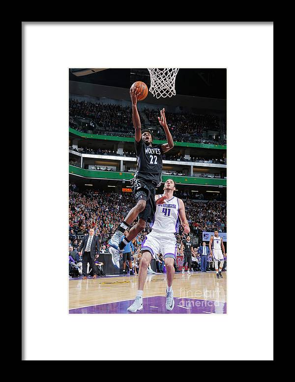 Nba Pro Basketball Framed Print featuring the photograph Andrew Wiggins by Rocky Widner