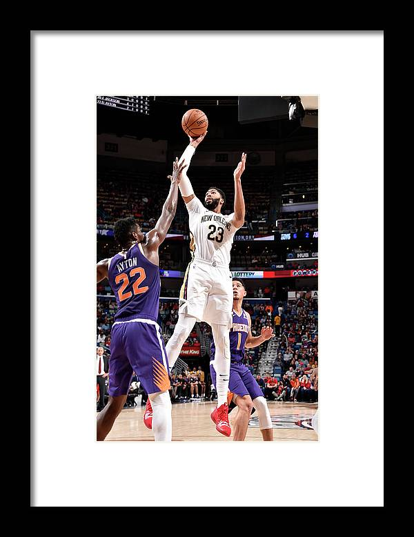 Smoothie King Center Framed Print featuring the photograph Anthony Davis by Bill Baptist