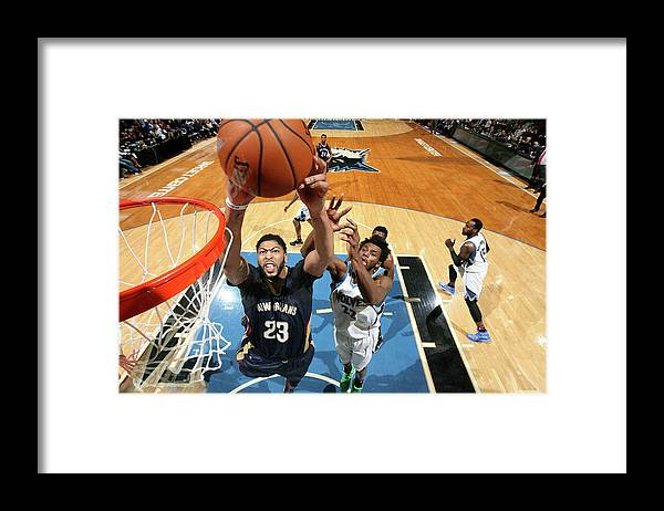 Nba Pro Basketball Framed Print featuring the photograph Anthony Davis by David Sherman