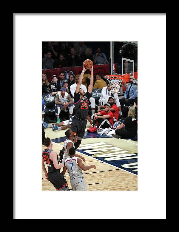 Smoothie King Center Framed Print featuring the photograph Anthony Davis by Joe Murphy